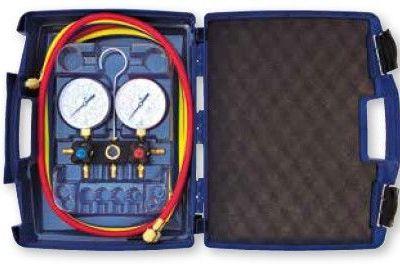 Kit Analizador 2 Vías Mangueras Carga Manómetros Ø80 mm Clase 1