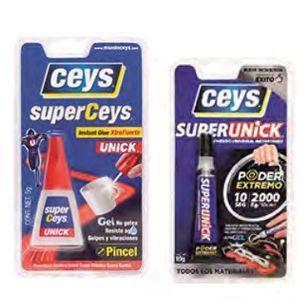 Adhesivos instantáneos superunik superceys