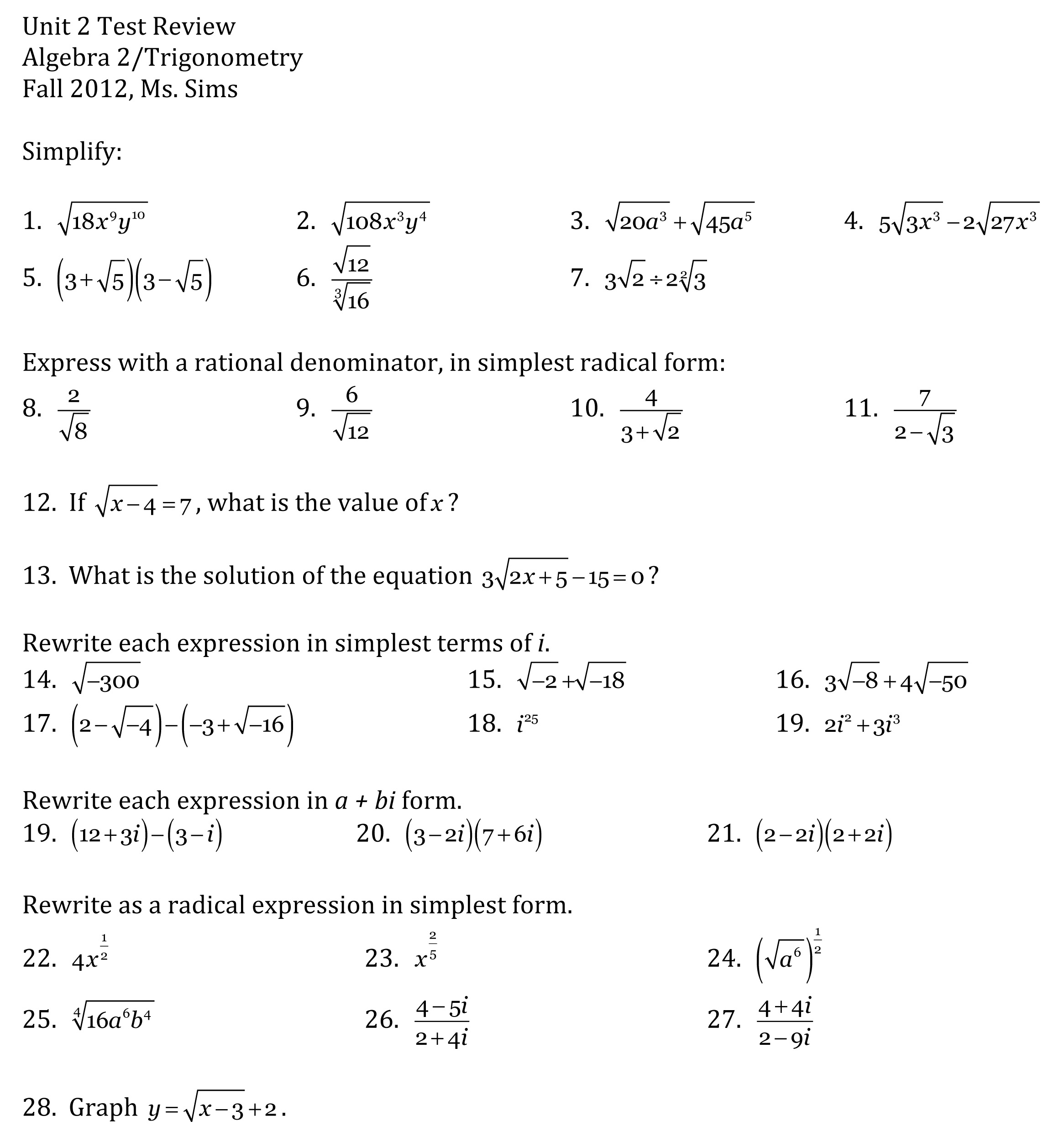 Get Help With Algebra 2 Homework Sheets