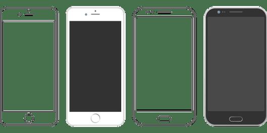 iPhoneとAndroid イメージ画像