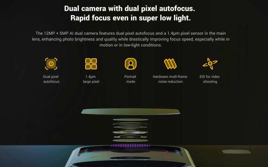Pocophone F1のメインカメラ