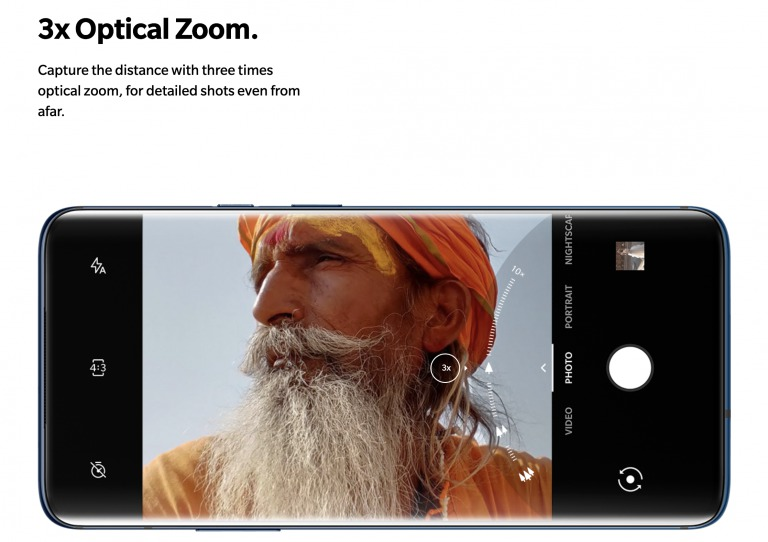 OnePlus 7 Proの望遠レンズ