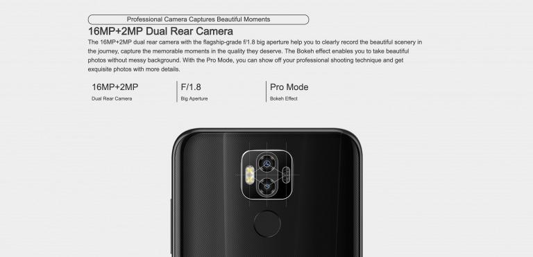 Ulefone Power 6のリアカメラ