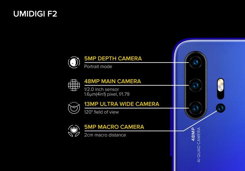 UMIDIGI F2 カメラ