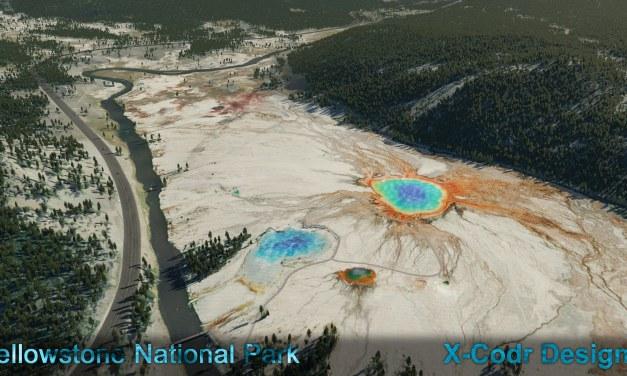 Yellowstone National Park pro X-Plane