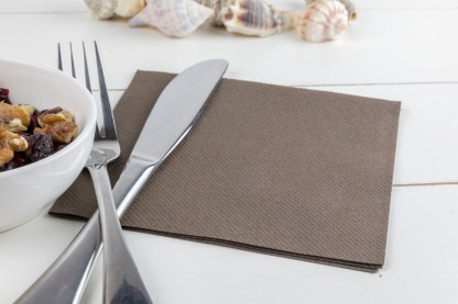 SimuLinen Cocktail and Party Napkins Beverage Napkins – Decorative, Absorbent, Cloth Like and Disposable - Brown