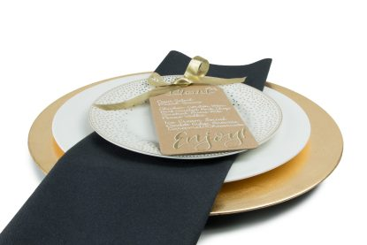 SimuLinen Black Flat Pack Unfolded Dinner Napkin