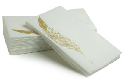 SimuLinen Gold Feather 25ct Bathroom Hand Towel