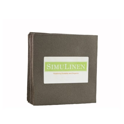 SimuLinen CHOCOLATE BROWN Cocktail Beverage Napkins