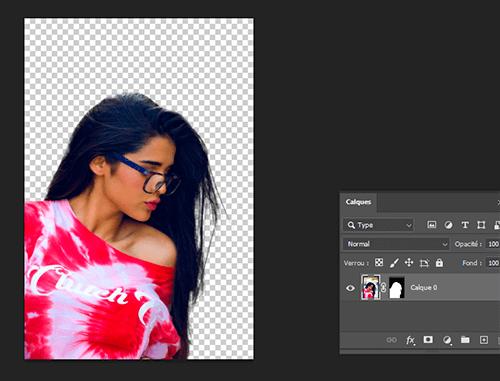 détourer cheveux sur photoshop