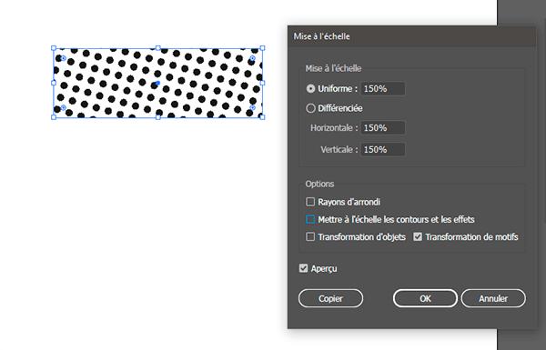 modifier l'échelle d'un motif