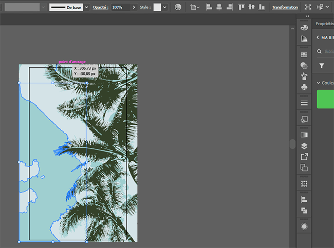 fond d'écran palmier sur adobe illustrator