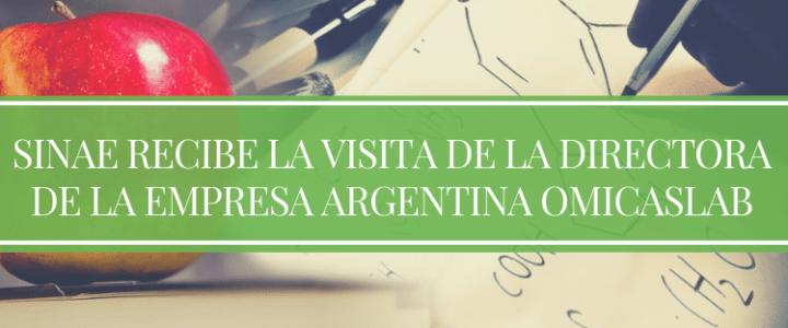 SINAE RECIBE LA VISITA DE LA DIRECTORA DE LA EMPRESA ARGENTINA OMICASLAB