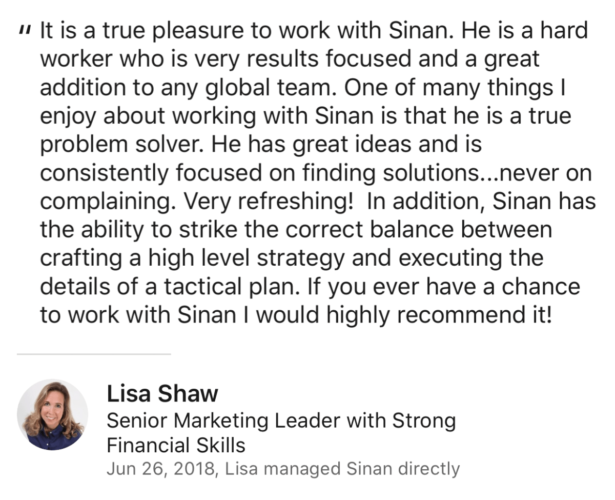 Lisa Shaw Review for Sinan Ata