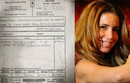 Florencia Peña cobró $42.000 del gobierno por dar una charla