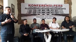 Diskusi Mengawal Netralitas Mahkamah Konstitusi di Bakoel Koffie, Cikini, Menteng, Jakarta Pusat,Jumat (14/06/2019).
