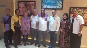 Ketua Umum Badan Komunikasi Nasional Desa Se-Indonesia (BKNDI), Isra A Sanaky dan Dr Yusuf Yambe Yabdi, usai gelar jumpa pers, di daerah Kemayoran, Jakarta Pusat, Rabu (06/11/2019).