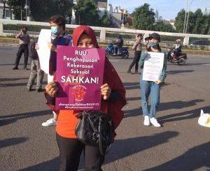 Desak DPR Masukkan Kembali RUU PKS Sebagai Prolegnas Prioritas, Aktivis Gelar Aksi Selasaan.