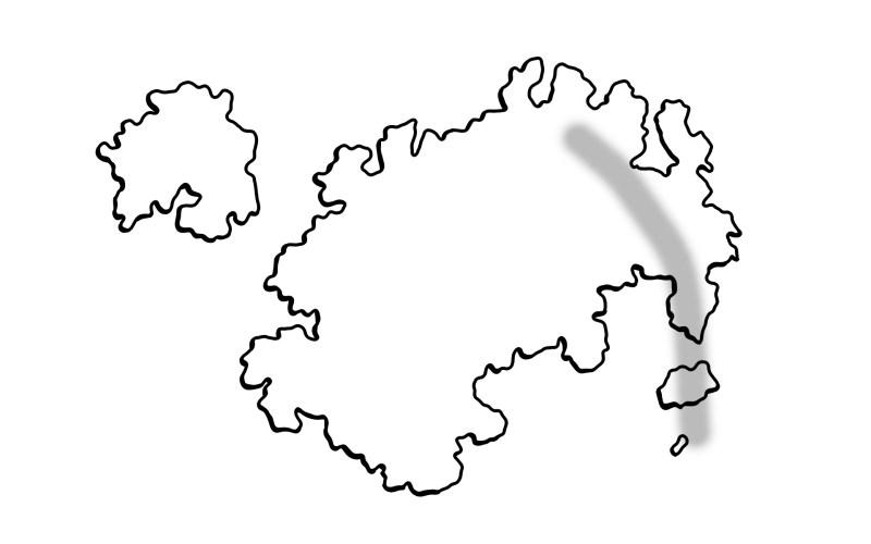 Der Einfache Weg Landkarten Zu Zeichenen Berge Und Gebrige