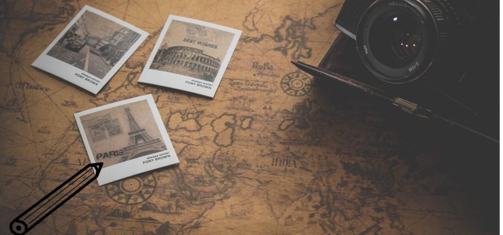 Eine Landkarte mit Küste und Meer