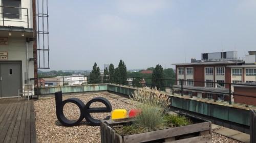 Ein Ausblick von der Dachterasse auf der LitBlogCon.