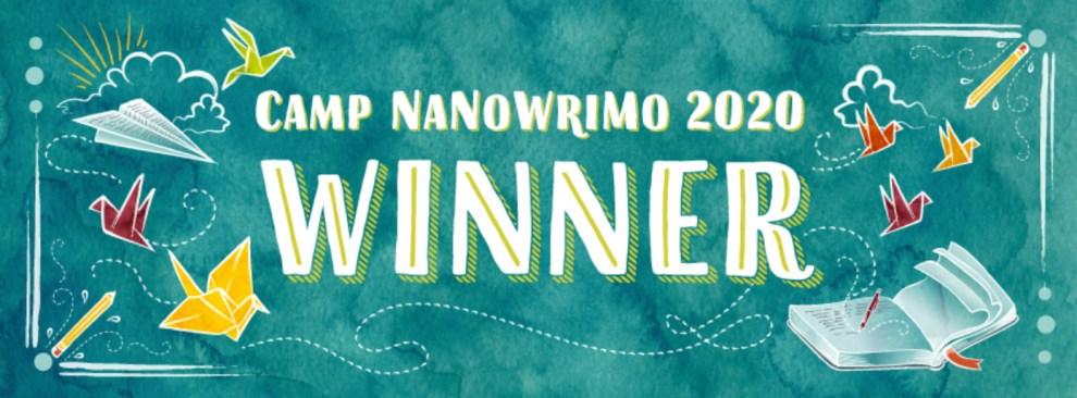 CampNaNoWriMo Winner Banner