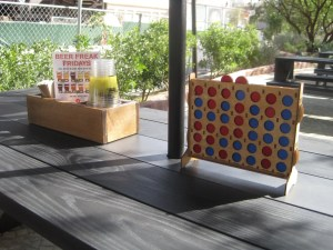 BeerHaus has Connect Four on the tables