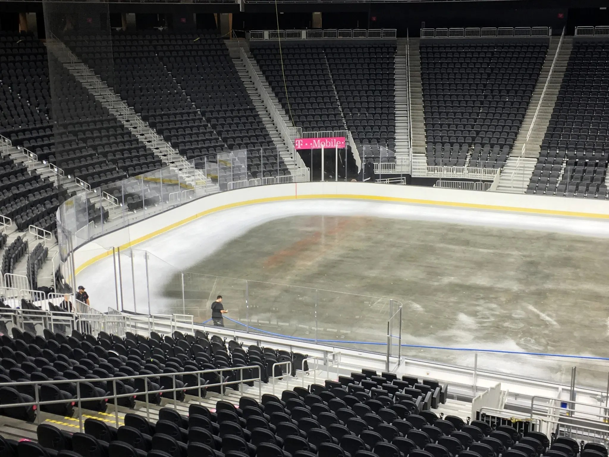 T Mobile Arena Lays Ice For The First Time Pictures