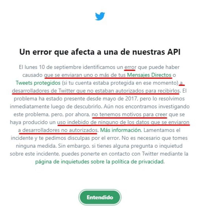 Twitter espía