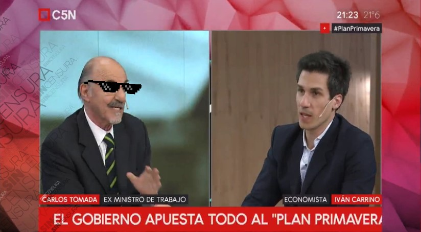 CARLOS TOMADA LE HIZO PELO BARBA CAVADO Y TIRA DE COLA A IVAN CARRINO