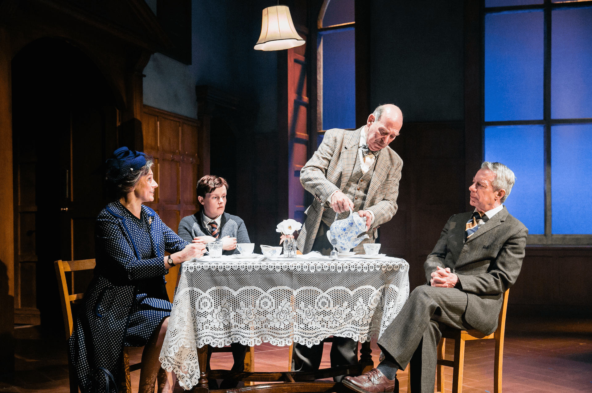 Amanda Ryan, Shannon Rewcroft, Denis Lill and Stephen Boxer in Shadowlands. Credit: Jack Ladenburg