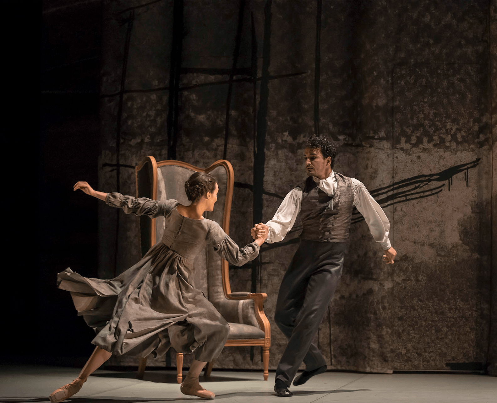 Dreda Blow as Jane Eyre and Javier Torres as Edward Rochester in Cathy Marston's Jane Eyre. Photo Emma Kauldhar.jpg