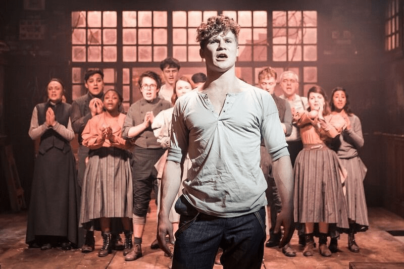 Darragh Cowley and the cast of Spring Awakening at the Hope Mill Theatre