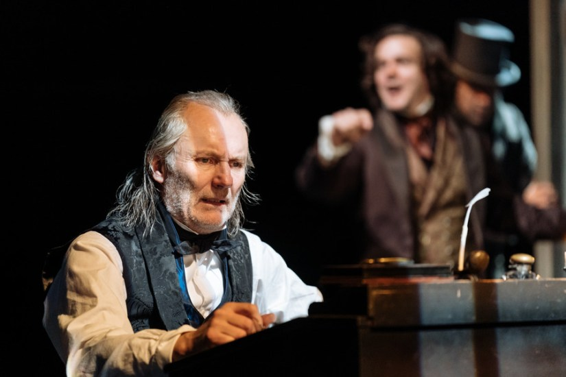 A Christmas Carol production photos, directed by Rachel Kavanaugh. Royal Shakespeare Theatre, 2018.