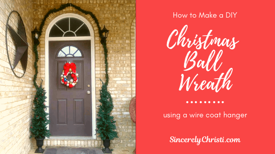 How to Make a Christmas Wreath Using a Wire Coat Hanger