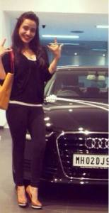 neha with car