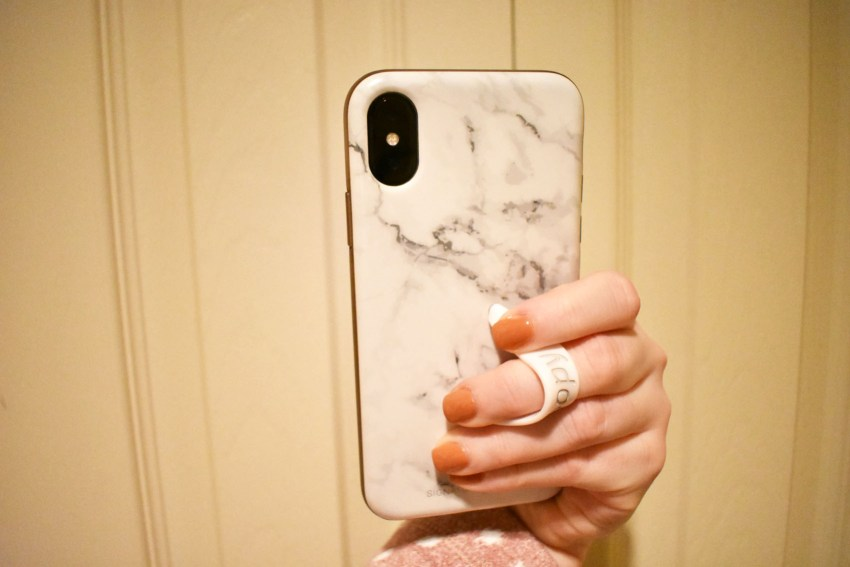Loopy Cases White Marble iPhone X