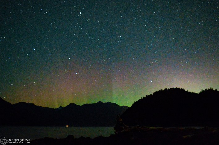 """09.28.16. // """"Am I hallucinating or is that an aurora?"""" Taken at Furry Creek."""