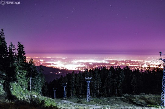 08.12.16. // City lights from Seymour Mountain.