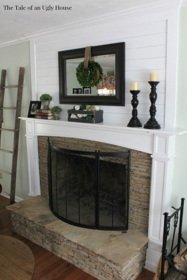 Diy Fireplace With Tv Above