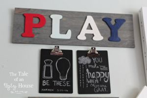 DIY Wooden PLAY Sign + Back To School Printables!