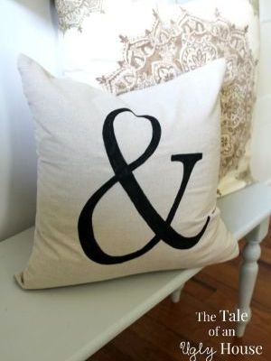 Pottery Barn Hack – Ampersand Pillow