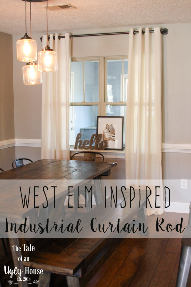 West Elm Inspired Industrial Curtain Rod - Sincerely, Marie Designs