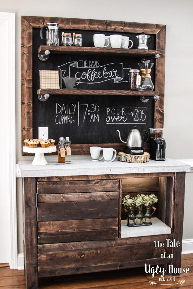 Wonderful Coffee Bar Table Part - 14: DIY Coffee Bar