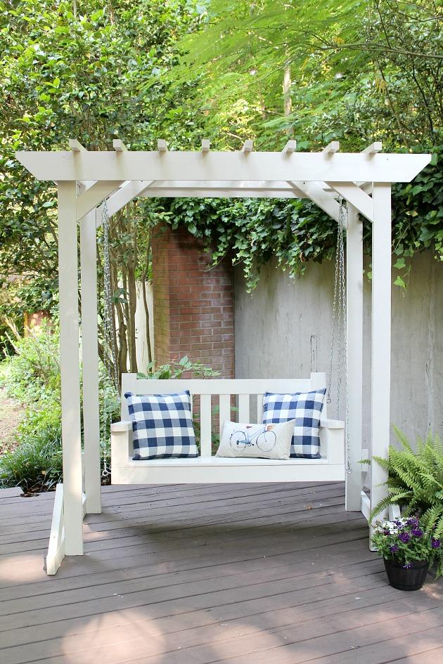 Diy Porch Swing Amp Pergola Sincerely Marie Designs
