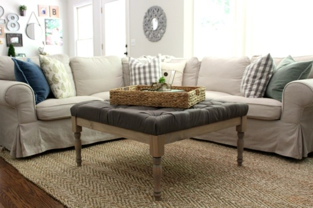DIY Upholstered Coffee Table