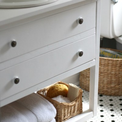 A New Guest Bathroom Vanity + Our Free Building Plans