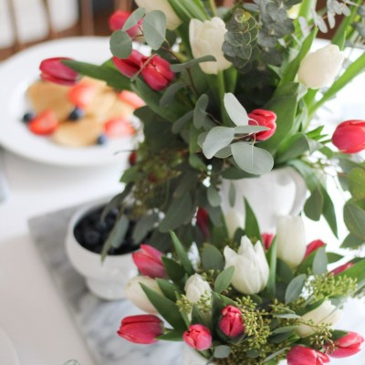 A Simple Valentine's Day Breakfast Table