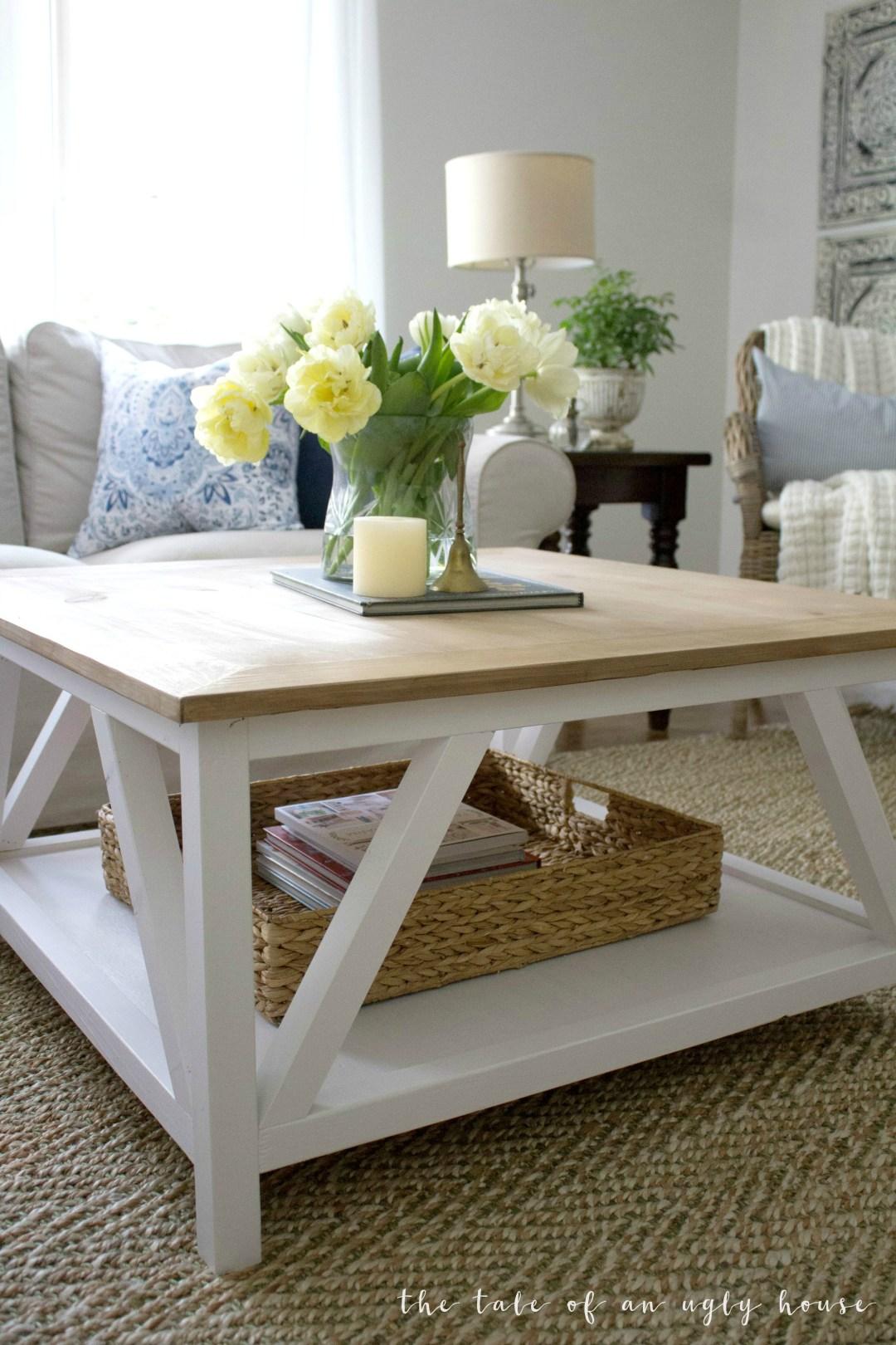 Diy Modern Farmhouse Coffee Table Sincerely Marie Designs