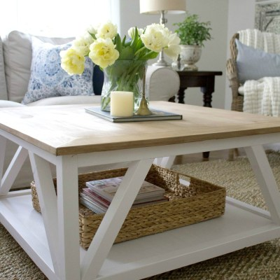 DIY Modern Farmhouse Square Coffee Table